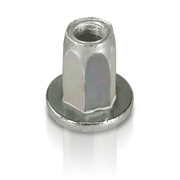 Rivet nut with large flange